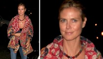 Heidi Klum -- Jetting Out of Town ... Without the Bodyguard