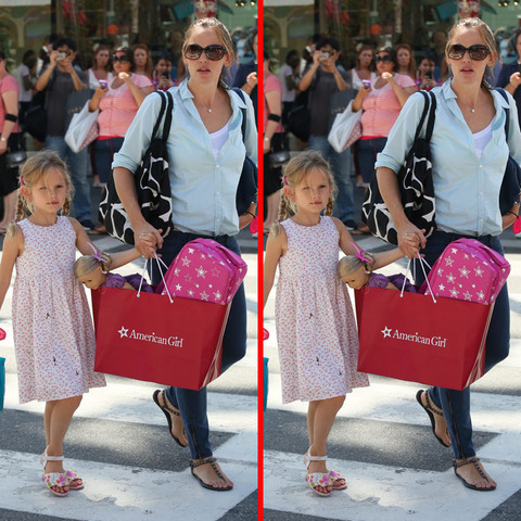 Can you spot the THREE differences in the Jennifer Garner and  Violet picture?