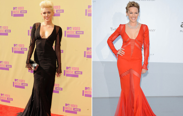 Dueling Dresses: Miley Cyrus vs. Kylie Minogue!