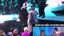 Rihanna -- Kisses and Hugs Chris Brown at MTV VMAs