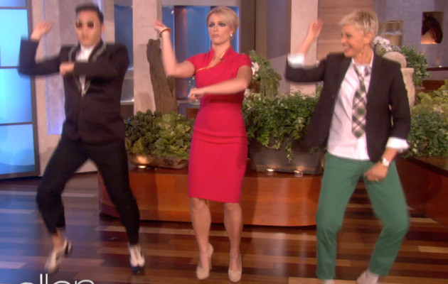 "Video: Britney Spears Learns ""Gangnam Style"" Dance"