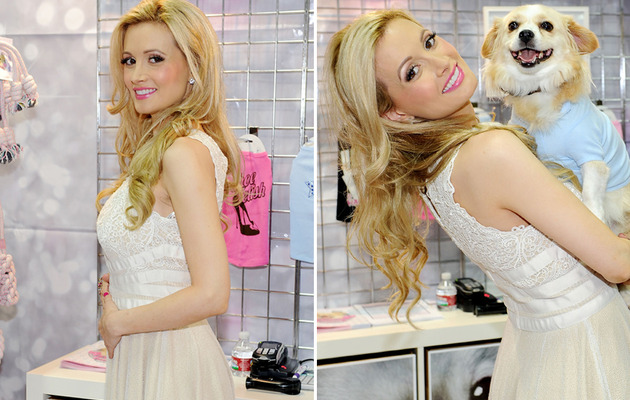 Holly Madison Debuts Dog Line and Shows Off Baby Bump!