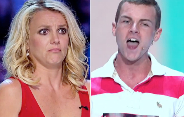 """X Factor"" Video: Britney Spears Creeped Out By Super Fan"