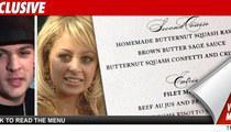 Nicole Richie Wedding Menu -- 'Tis the Season