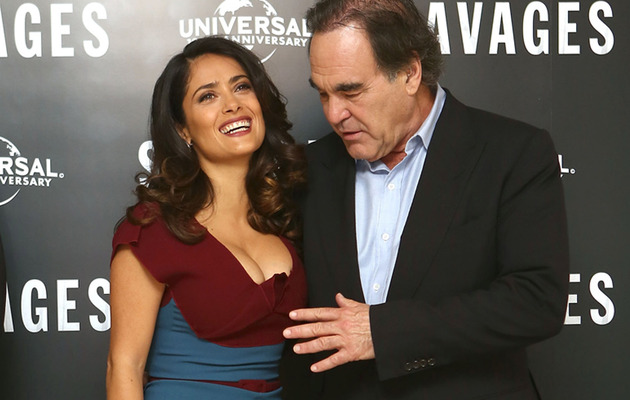 "Salma Hayek Almost Gets ""Savaged"" On The Red Carpet!"