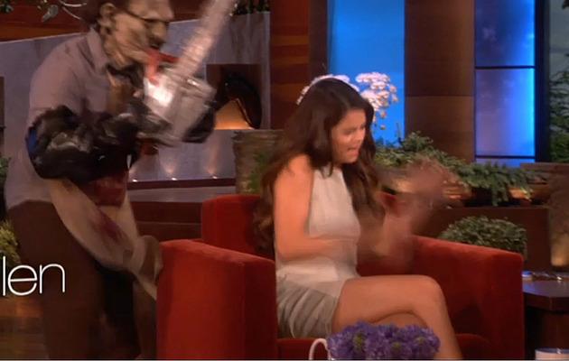 Ellen DeGeneres Scares Selena Gomez … TWICE!