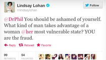 Lindsay Lohan Blasts Dr. Phil on Twitter -- 'You're a Fraud!'