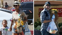 Halle Berry and Gabriel Aubry -- (Temporary) Truce at the Pumpkin Patch