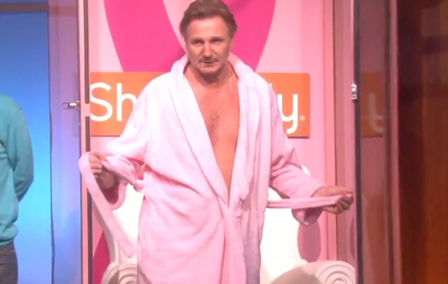 Liam Neeson Strips to Pink Briefs for Ellen DeGeneres
