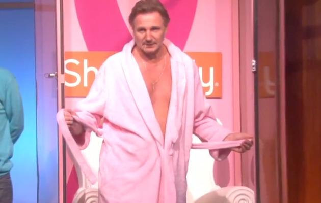 Liam Neeson Strips to Pink Briefs for Ellen DeGeneres