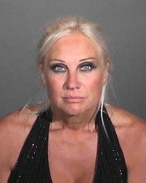 Linda Hogan mugshot after being arrested in Malibu on suspicion of DUI