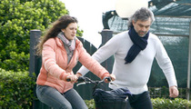 Andrea Bocelli Rollerblades ... with Seeing-Eye Bicyclist