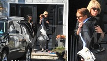 Lindsay Lohan -- HUGS IT OUT with Dina