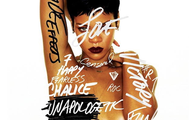 "Rihanna Debuts New Album Cover for ""Unapologetic!"""