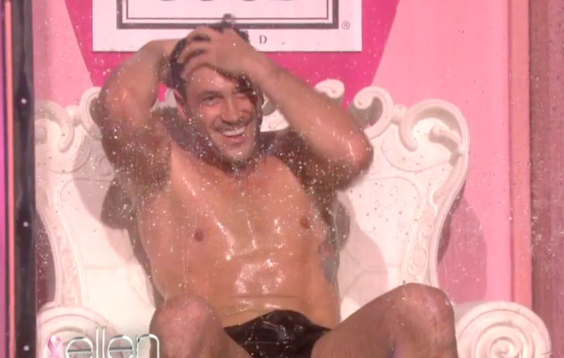 Maksim Chmerkovskiy Strips Down & Gets Wet for Ellen