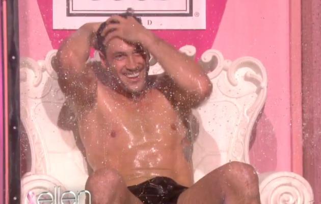 Maksim Chmerkovskiy Strips Down & Gets Wet for Ellen