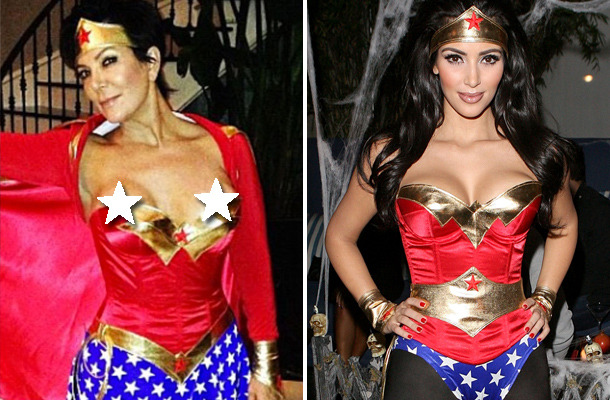 Kris Jenner Has Wardrobe Malfunction In Wonder Woman Costume