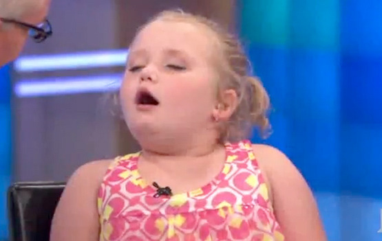 "Video: Honey Boo Boo ""Falls Asleep,"" Says She Hates Fan Attention"