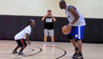 Terrell Owens HANDLED By Little Person ... In Pick-Up Basketball