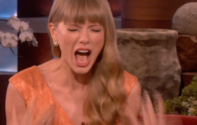 Videos: Taylor Swift Put on Spot About Songs By Ellen, Gets Scared Twice!