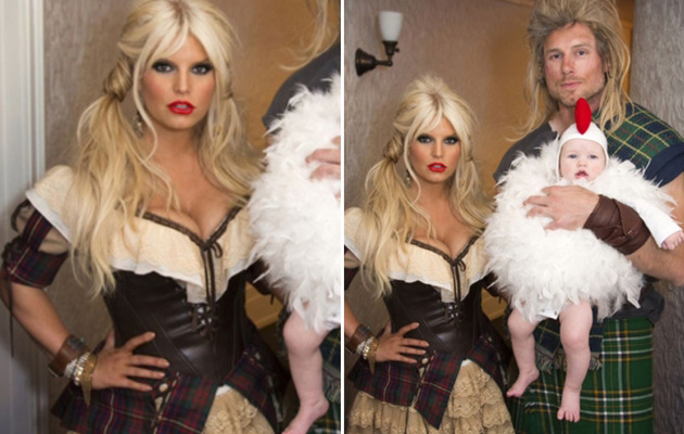 Jessica Simpson Flaunts Slim Figure in Sexy Halloween Costume