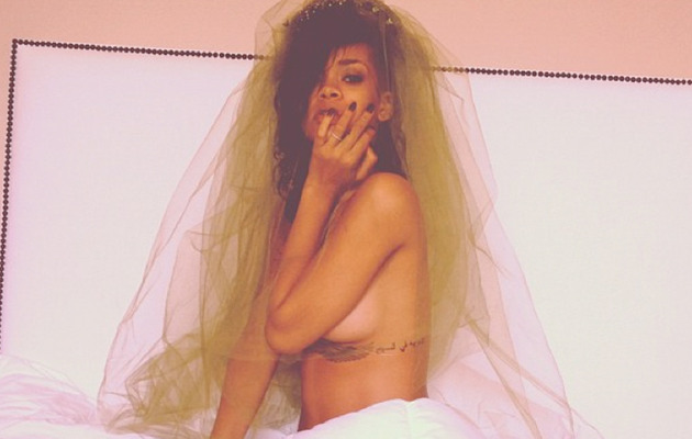 Rihanna Posts Topless Post-Halloween Pic