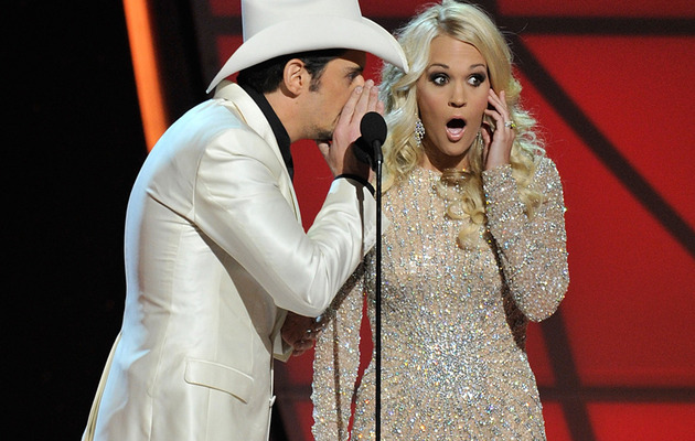 Carrie Underwood & Brad Paisley Make Fun of Taylor Swift's Breakup