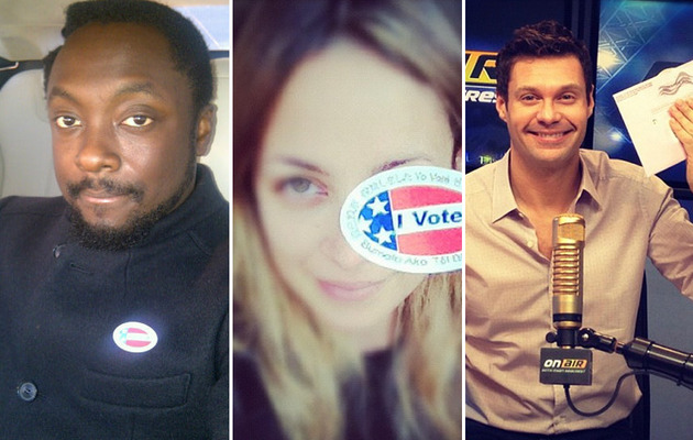 From the Candidates to Mariah Carey, Stars Hit the Voting Booth!