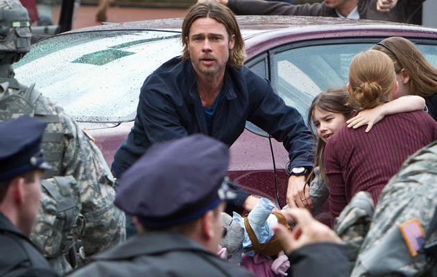 "Brad Pitt Battles Zombie Hordes In ""World War Z"" Trailer"