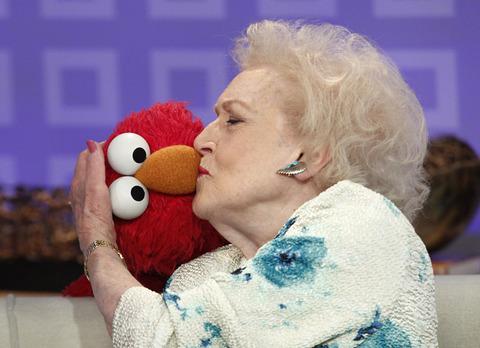Elmo with Betty White