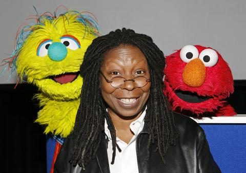 Elmo with  Whoopi Goldberg