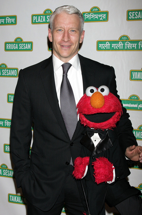 Elmo with  Anderson Cooper