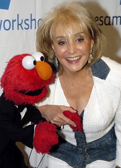 Elmo with Barbara Walters
