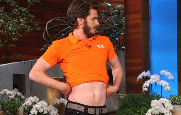 "Video: Andrew Garfield Belly Dances on ""Ellen"""