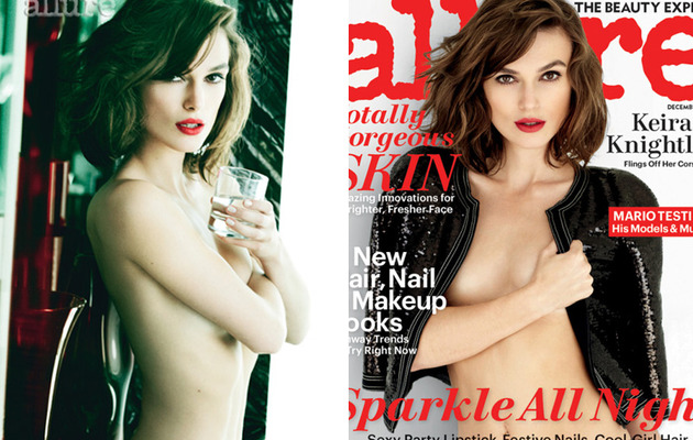 "Topless Keira Knightley Covers Allure, Talks About ""Being Too Thin"""