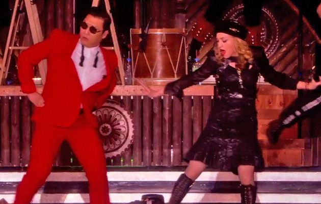 "Video: Madonna Does ""Gangnam Style"" In Concert with PSY"