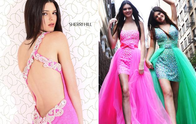 Kendall & Kylie Jenner Model Short & Revealing Prom Dresses