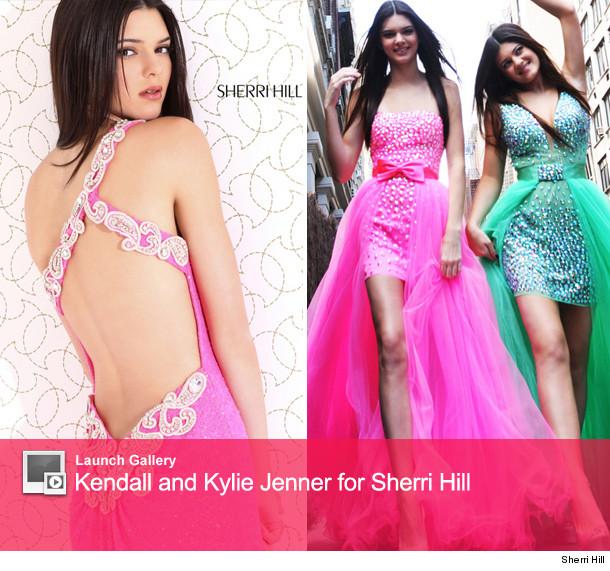 Kendall Kylie Jenner Model Short Revealing Prom Dresses Toofabcom