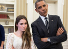 President Obama & McKayla Maroney -- NOT IMPRESSED