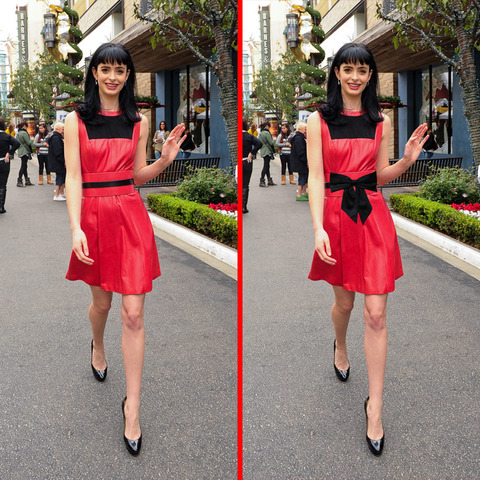 Can you spot the THREE differences in the Krysten Ritter picture?