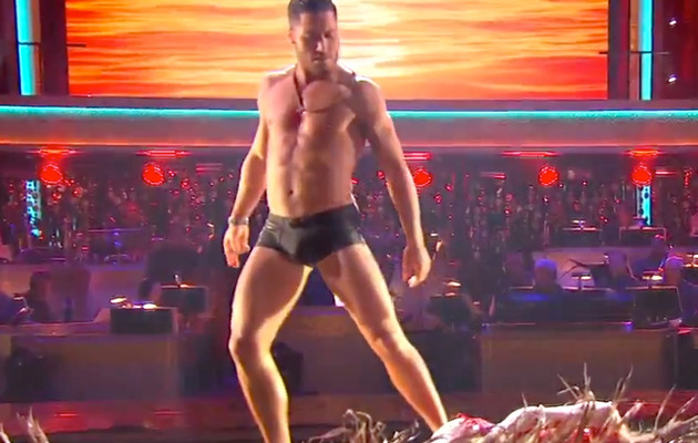 "Val Chmerkovskiy Strips to Speedos on ""Dancing with the Stars"""