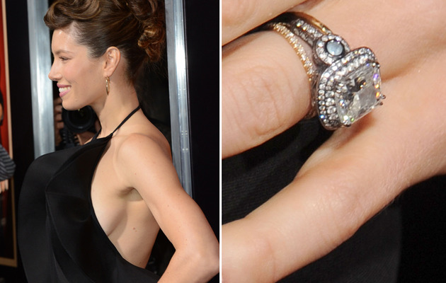 Jessica Biel Flaunts Side-Boob & Wedding Ring!