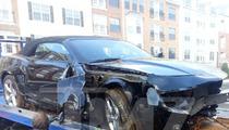 Bobbi Kristina -- WRECKS Camaro in Nasty Car Accident