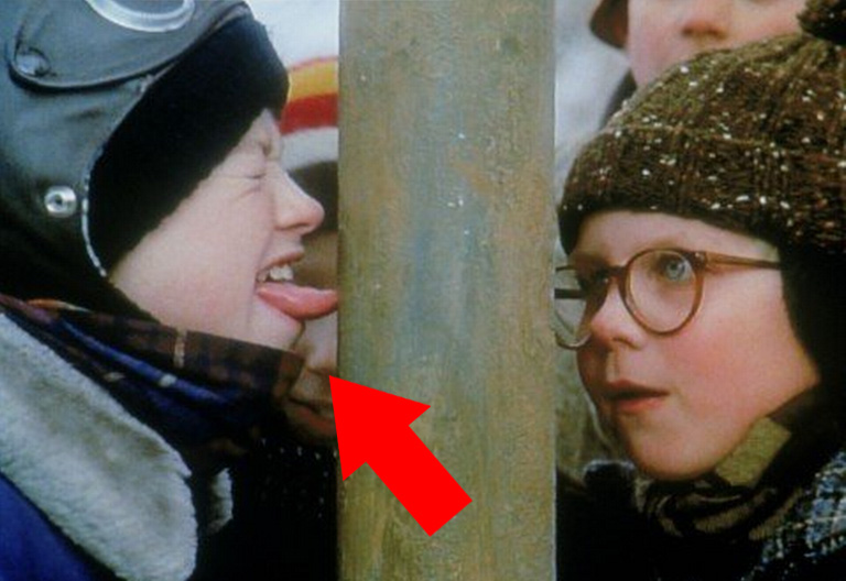 Remember that not-so-smart kid Flick whose tongue was stuck to the pole?