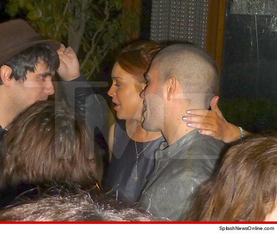 Lindsay Lohan -- Getting Hands On with Max George from The ...