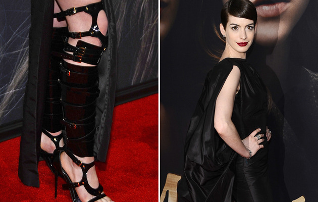 "Anne Hathaway Sports Bondage Boots to ""Les Miserables"" Premiere"
