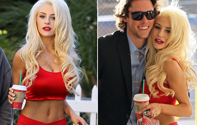 Courtney Stodden Flaunts Abs Outside Recording Studio