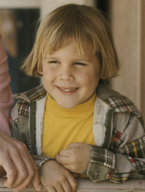 Before this handsome little man turned into a Hollywood's A-list actors -- he was just another cute kid growing up in California.