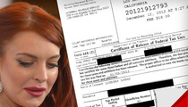 Lindsay Lohan -- PROOF I'm Paying My Taxes ... With Charlie Sheen's Money