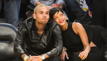 Rihanna & Chris Brown -- TOGETHER at the Lakers Game
